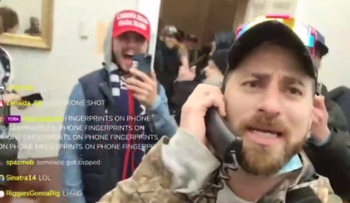 Image from Tim Gionet's live stream from inside the U.S. Capitol