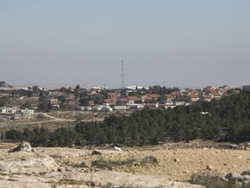 The Maon Farm settler outpost, near Hebron in the West Bank, which Palestinians say has been illegally build on their land.