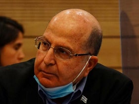 Moshe Ya'alon at a Knesset committee meeting, June 2020.