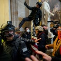 Pro-Trump protesters storm the Capitol Building, January 6.
