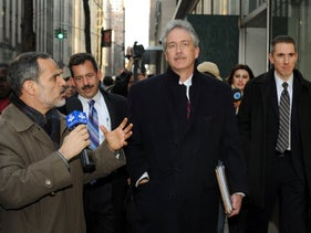 William Burns being asked a question by an Iranian reporter in New York, January 16, 2010.