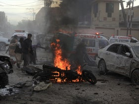 Suicide bombing in Pakistan, February 2020.