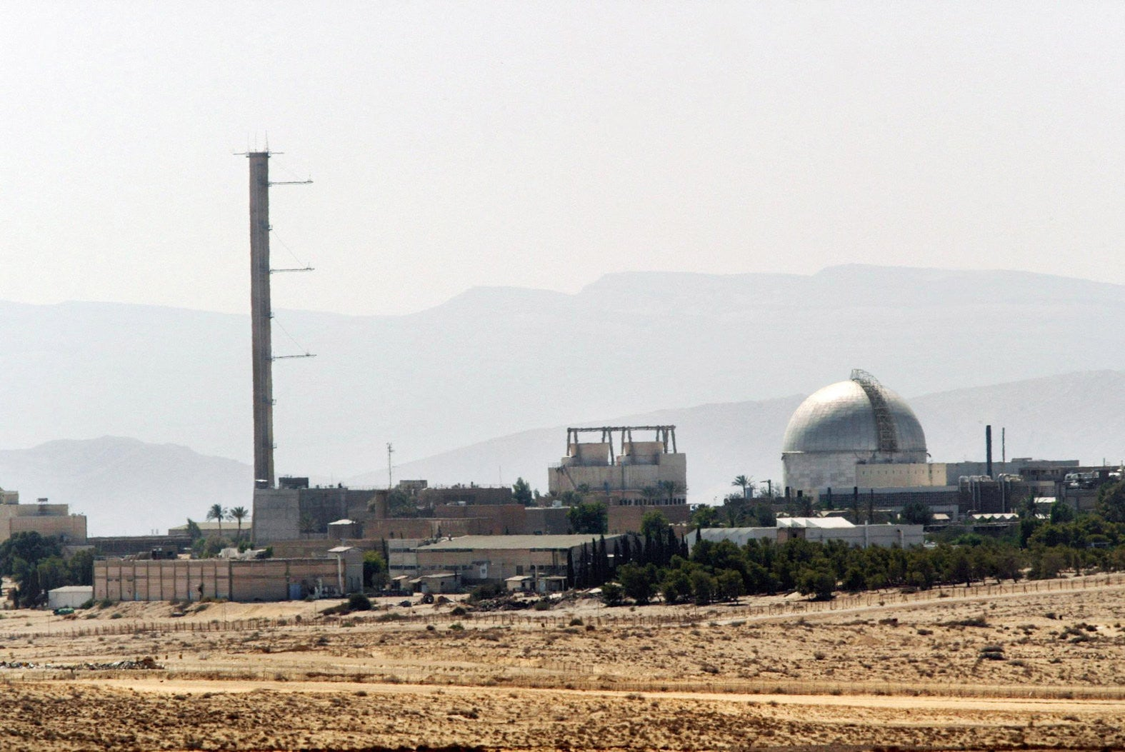 A partial view of the Dimona nuclear power plant in Israel's Negev desert, September 2002.