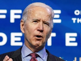 Joe Biden speaks as he announces members of economics and jobs team at his transition headquarters in Wilmington, Delaware, January 8, 2021.