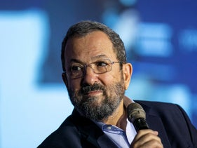 Ehud Barak at the Israel Democracy Institute conference, Jerusalem, September 12, 2019.