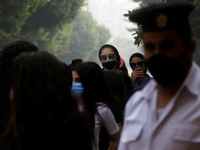 Women wearing face masks amid the coronavirus disease (COVID-19) in Cairo, Egypt, November 7, 2020.