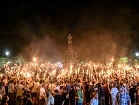 'Jews will not replace us.' The scenes in Charlottesville, August 2017