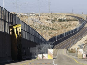 A segregated West Bank highway near Jerusalem, Thursday, January 10, 2019