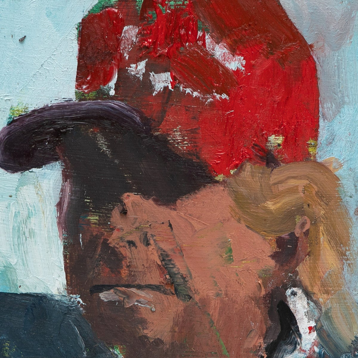 A portrait of President Donald Trump from Iddo Markus' painting series 'The Apprentice.'