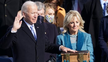 Democrat Joe Biden is sworn in as the 46th president of the United States, January 20, 2021.