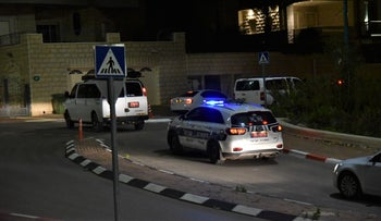 Police entering Tur'an in northern Israel, January 24, 2021.
