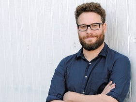 """In this Oct. 13, 2014 file photo, actor, co-writer and co-director, Seth Rogen of the film """"The Interview,"""" poses for a portrait in Los Angeles"""