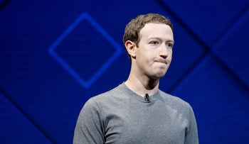 In this file photo, Facebook Founder and CEO Mark Zuckerberg speaks on stage during the annual Facebook F8 developers conference in San Jose, California, U.S., April 18, 2017.