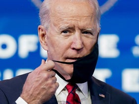 Joe Biden, then president-elect, speaking at a news conference in Wilmington, Delaware, January 15, 2021.