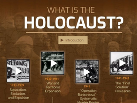 An interactive lesson on the Holocaust on the Yad Vashem website.