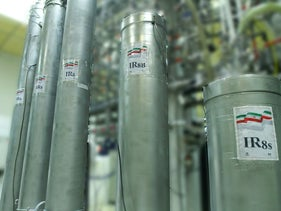 Iran's atomic enrichment facilities in the Natanz nuclear research center