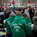 Demonstrators during a protest against President Donald Trump's decision to move the U.S. embassy in Israel to Jerusalem, in Paris, France, Dec. 9, 2017.