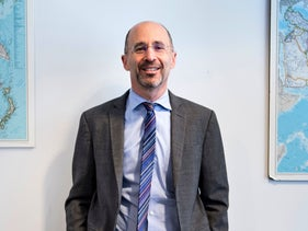 Rob Malley posing in his Washington office, May 7, 2018. He was named as President Joe Biden's special envoy on Iran