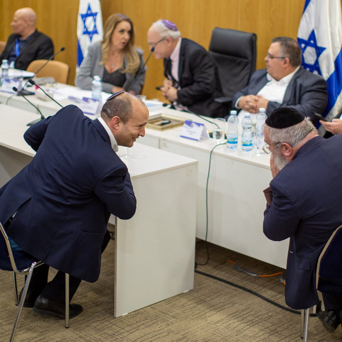 Israeli lawmakers gather on the day before the lists close, 2019.