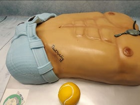 A torso-shaped cake from De Ouwe Taart bakery in the Netherlands.