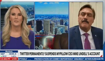 Newsmax anchor walks away from live interview with MyPillow CEO over false claims