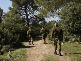 The scene of the murder of Esther Horgen, near her home in Tal Menashe in the northern West Bank, December 2020.