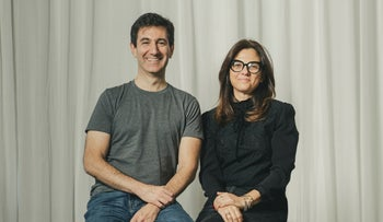 Payoneer's Scott Galit and Keren Levy.