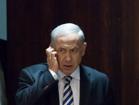 FILE – Netanyahu at the Knesset.