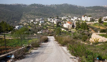 The village of Walaja, on Wednesday.