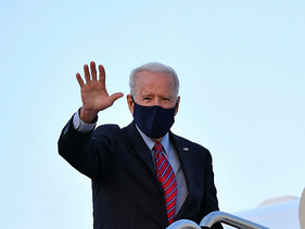 Biden before departing from Andrews Air Force Base in Maryland on Friday.
