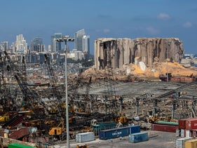 Three days after the deadly blast rocked Beirut's iconic port in Lebanon, August 2020.