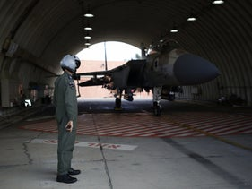 An IAF pilot at the Hatzerim base. The medical questionnaire sent out to soldiers on the base through Google Forms revealed their I.D. numbers and personal info