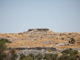 The archaeological site on Mount Ebal, which some archaeologists say is Joshua's altar, erected in biblical times.