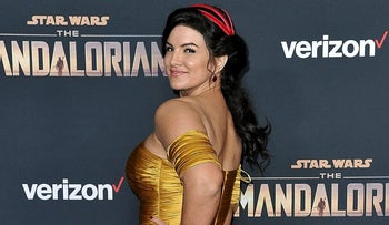 "Gina Carano attends the LA premiere of ""The Mandalorian"" at the El Capitan Theatre in Los Angeles"