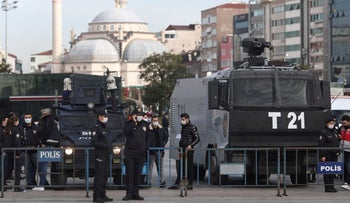 Turkish riot police in Istanbul.