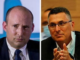 Naftali Bennett, left, and Gideon Sa'ar.