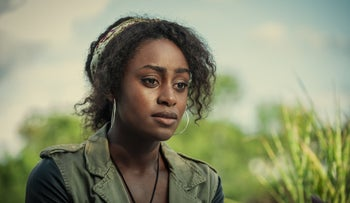 "Simona Brown as Louise in the Netflix thriller ""Behind Her Eyes."""