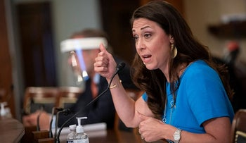 Rep. Jaime Herrera Beutler, R-Wash., speaks during a Labor, Health and Human Services, Education, and Related Agencies Appropriations Subcommittee hearing about the COVID-19 response on Capitol Hill in Washington
