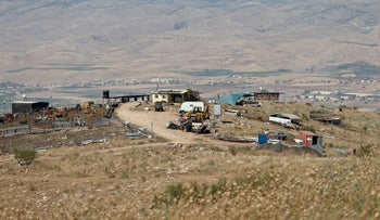 Uri's Farm, an outpost in the Jordan Valley. Setting up farms that grow crops – or raise livestock – allows a quicker, cheaper land grab than building additional housing on a settlement.