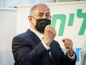 Prime Minister Benjamin Netanyahu visiting a Clalit health maintenance organization in Zarzir, northern Israel, earlier this month.