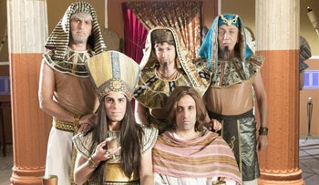 "Some of the characters of satirical Israeli comedy ""the Jews are Coming"""