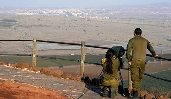 Israeli soldiers at the Syrian border in November.