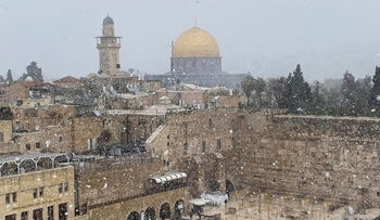 A general view of Jerusalem's Old City, earlier today