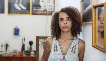 Ibtisam Mara'ana at her Tel Aviv apartment.