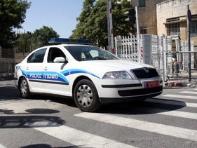 File photo of an Israel Police vehicle