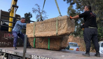 The two sarcophagi found last week