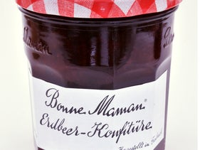 A jar of Bonne Maman jam