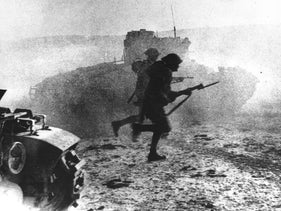 The battle for El Alamein in Egypt during World War II.