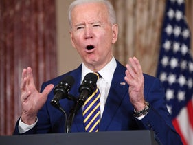 Biden speaks about foreign policy at the State Department in Washington, this month.