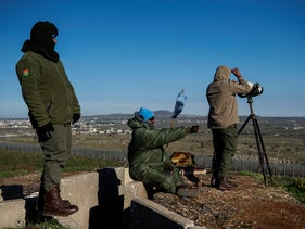 A UNIFIL observation post looking from Israel towards Syria in the Golan Heights, last month.